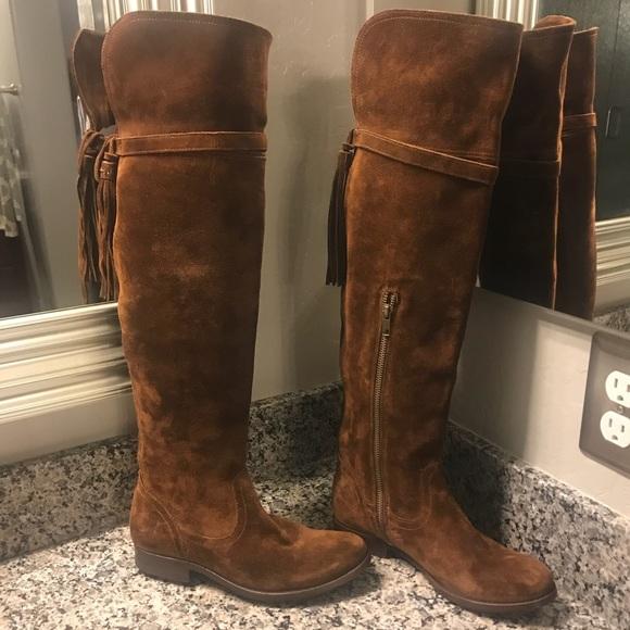 b1cd102ff86 New Frye Clara Tassel Over The Knee Boot Size 6